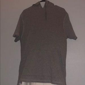 Grey ZINE shortsleeved hoodie